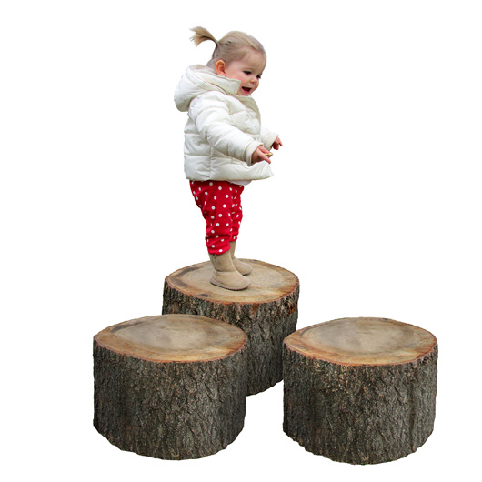 Tree Stumps, Set of 3