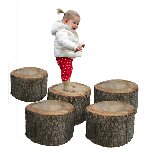 Tree Stumps, Set of 5